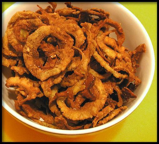 Fried Karela Chips (Bitter Gourd)