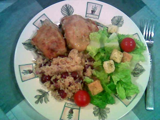 Chicken, Rice, and Grape Pilaf