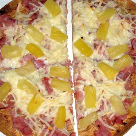Teriyaki Tortilla Pizza for One