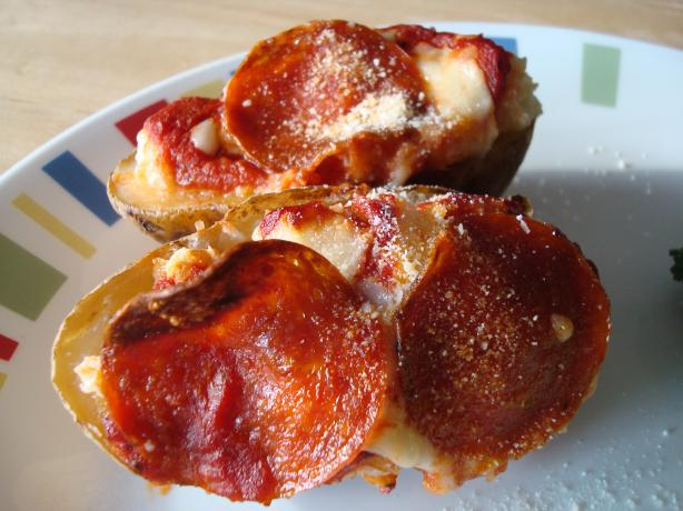 Pizza Stuffed Potatoes (Twice Baked)
