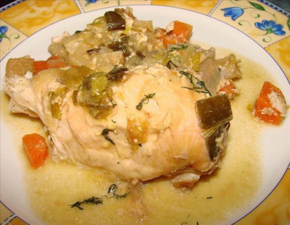 Chicken & Vegetables With Creamy Mustard-Herb Sauce ( Crock