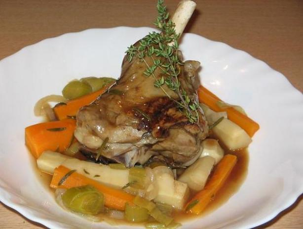 Gigot a La Cuillère - French Slow Cooked Spoon Lamb