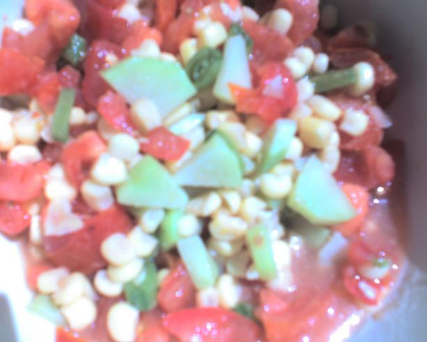Chayote, Corn & Tomato Salad
