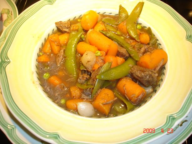 Low-Fat Burgundy Beef & Vegetable Stew
