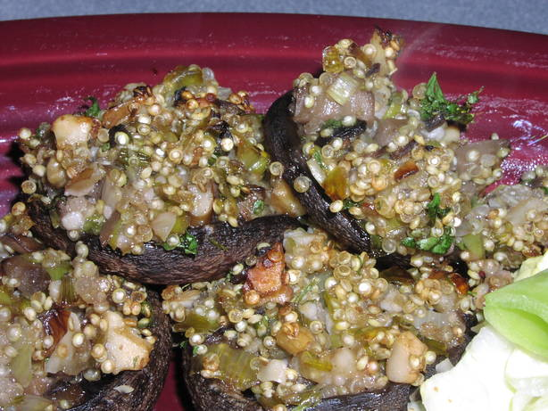 Quinoa - Stuffed Mushrooms