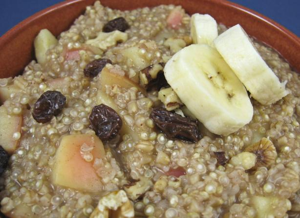 Quinoa and Oatmeal Cereal Heart Healthy