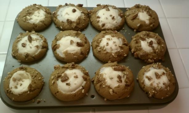 Pumpkin Muffins With Cream Cheese Center