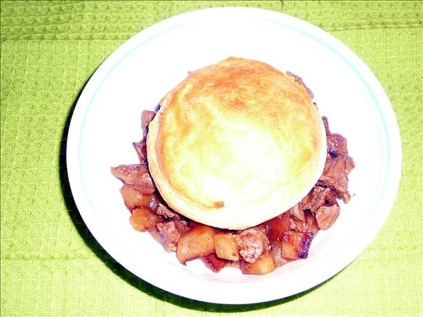 30 Minute Beef Pot Pie for 2