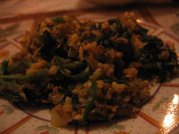 Wild Rice With Mild Curried Spinach