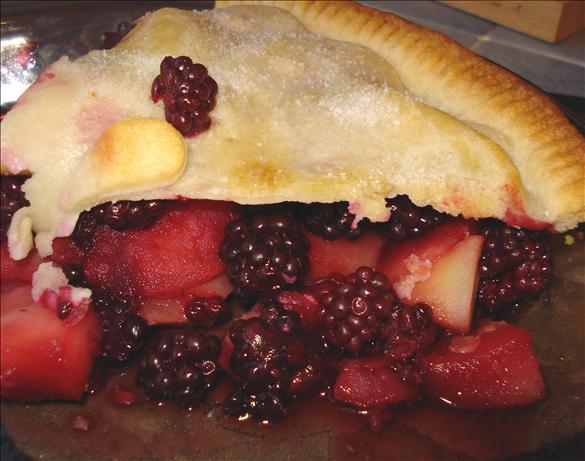 Simple Blackberry and Apple Pie