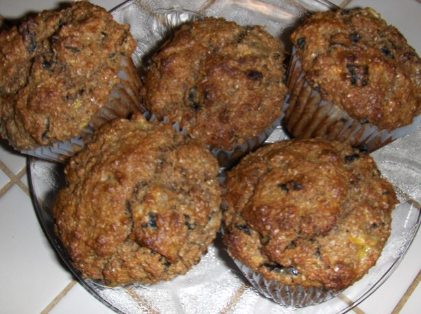 Banana, Bran and Prune Muffins