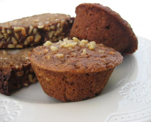 Molasses-Oat Banana Bread or Muffins (Lower Fat)