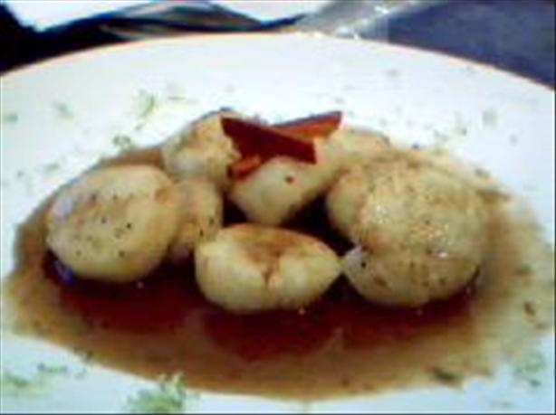 Seared Scallops with Asian Lime-chile Sauce