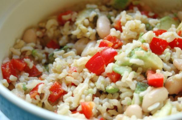 Quick Warm Avocado Bean Salad (Superfood)