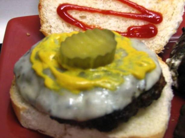 Cheesy Salsa Burgers