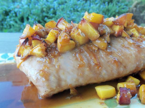 Peachy Keen Ginger Pork Loin