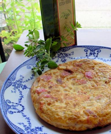 Allessio's Frittata - Tomatoes and Sweet Peppers