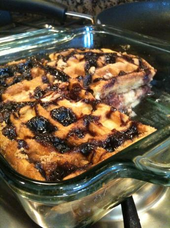 Leftover Waffle Bread Pudding