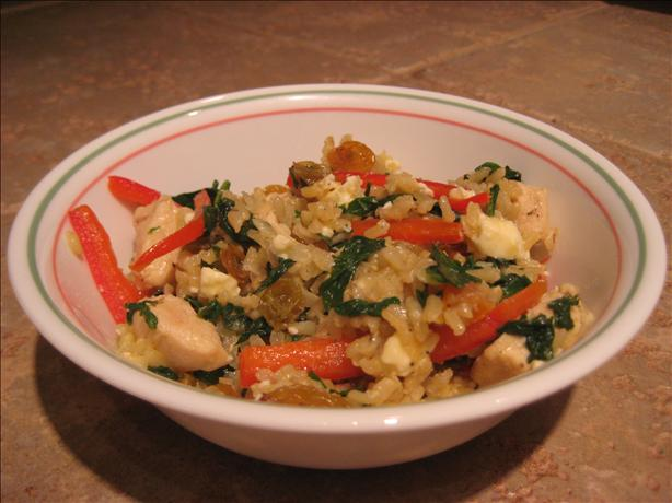 Mediterranean Spinach and Rice