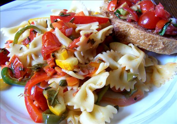 Summer Veggies With Farfalle
