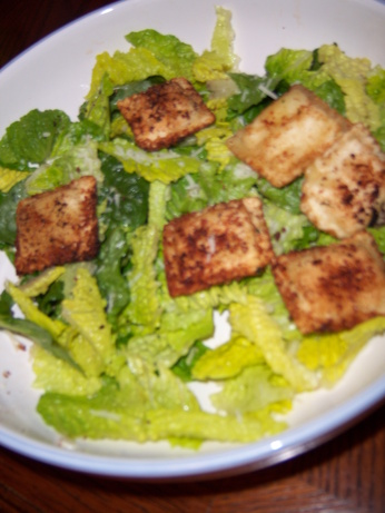 Caesar Salad With Fried Ravioli