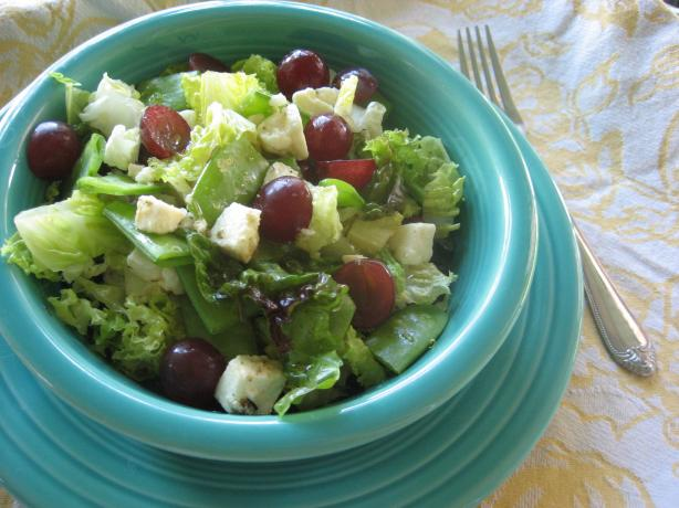 Field Salad With Snow Peas, Grapes, and Feta