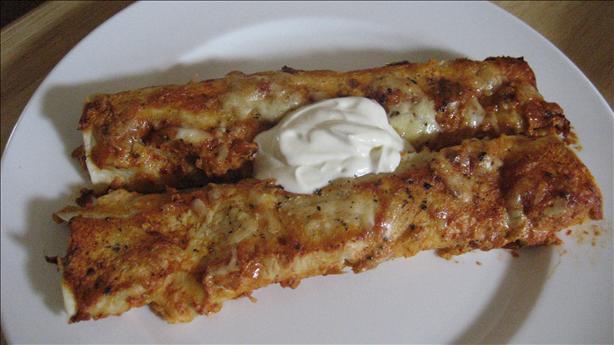 Sassy Chicken Enchiladas
