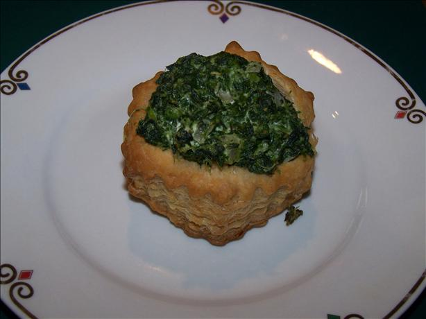 Spinach Stuffed Puff Pastry Cups