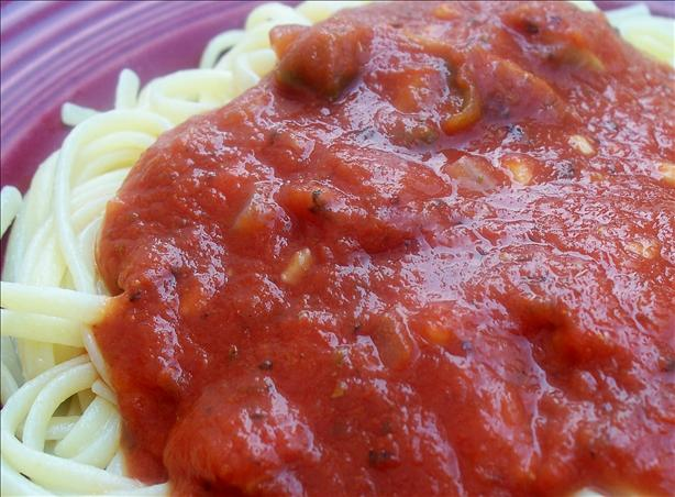 "Mikey's Favorite Meatless ""paghetti"" Sauce"