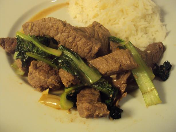 Ginger Beef With Bok Choy