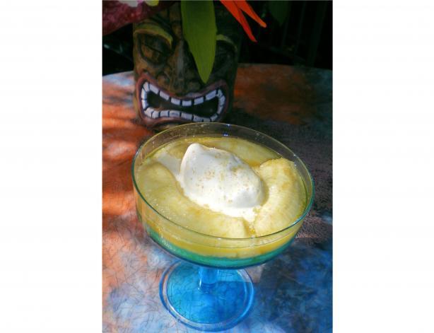 Jamaican Rummed Baked Bananas