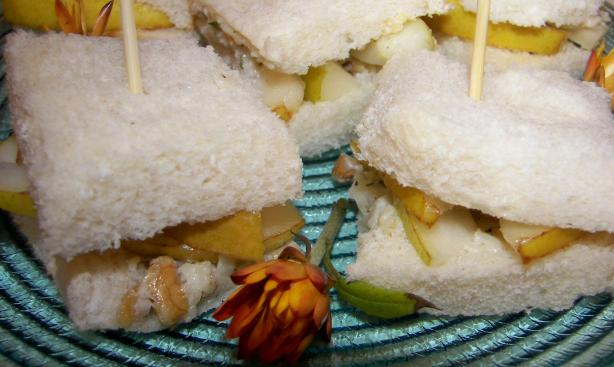 Stilton, Pear and Walnut Tea Sandwiches