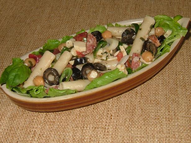 Antipasto Pasta Salad W/Basil Vinaigrette