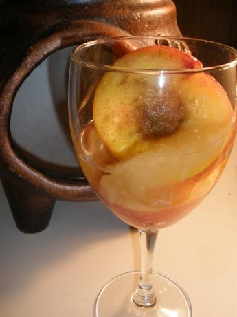 Peaches in Spice Wine