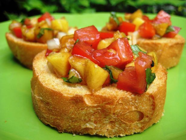 Fruity (Peachy) Bruschetta