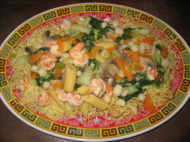 Seafood Pan Fried Noodles