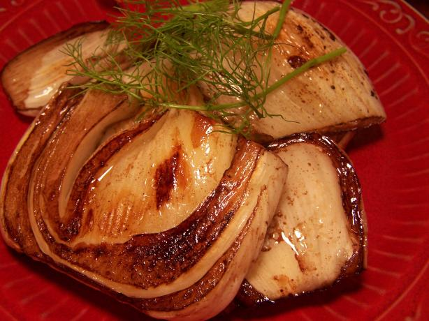 Grilled Fennel on the BBQ (Anise in French)