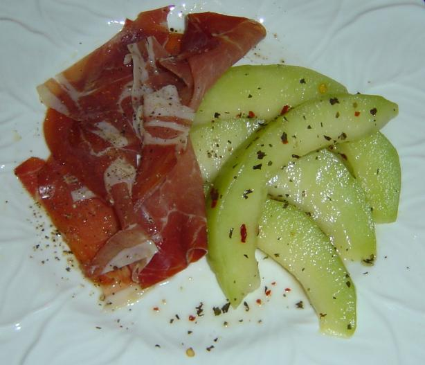 Prosciutto With Marinated Melon