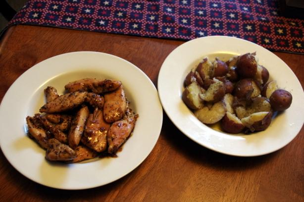 Apricot Poppy Chicken With Dill Potatoes