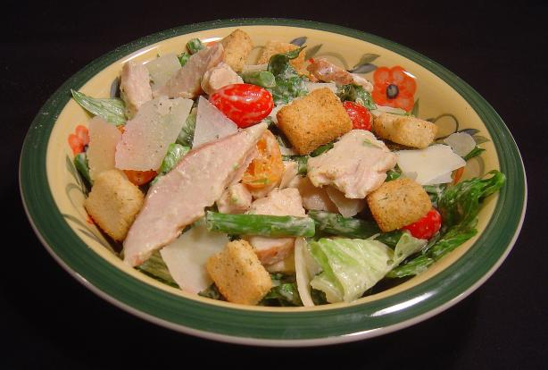 Chicken Caesar Salad With Asparagus
