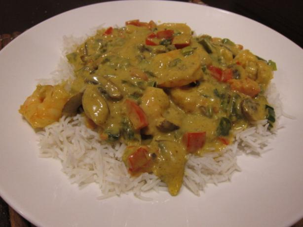 Kathy's Curried Shrimp