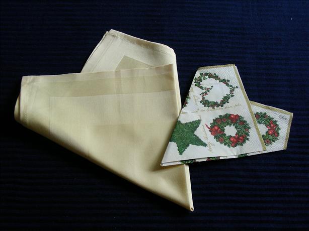Serviette/Napkin Folding, Easy Heart ( Suits Paper Well)
