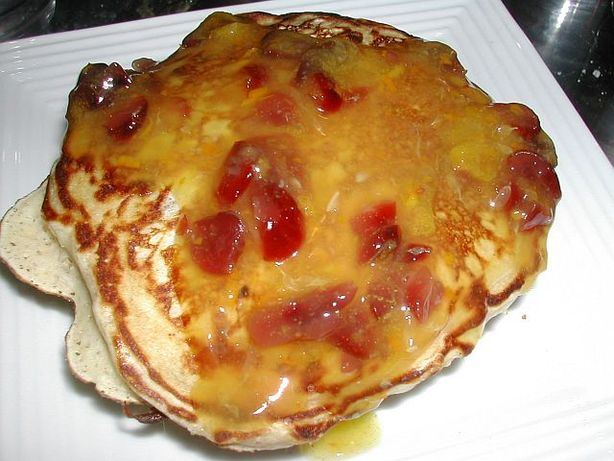 Cranberry Wheat Pancakes