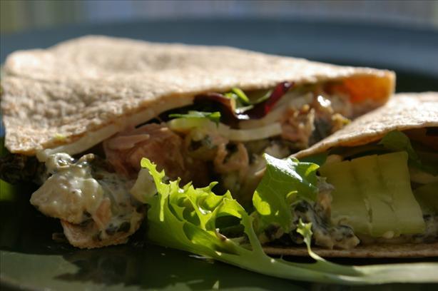 Tuna Guacamole Wrap for One