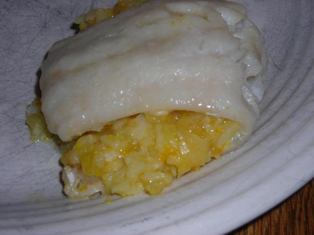 Whitefish With Orange Rice Stuffing