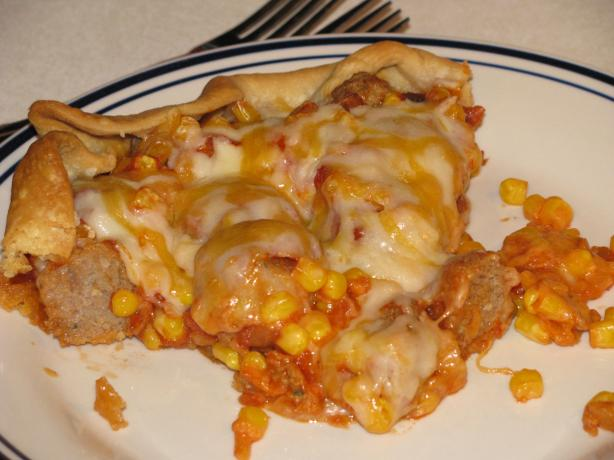 Tex-Mex Meatball Pie