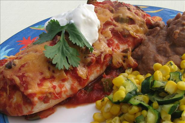 Low Fat Chicken Enchiladas With High Fat Taste.