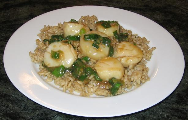 Ginger Stir Fried Scallops