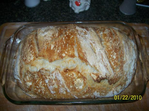 No Knead Italian Rustic Bread - Recipe Has been Corrected!