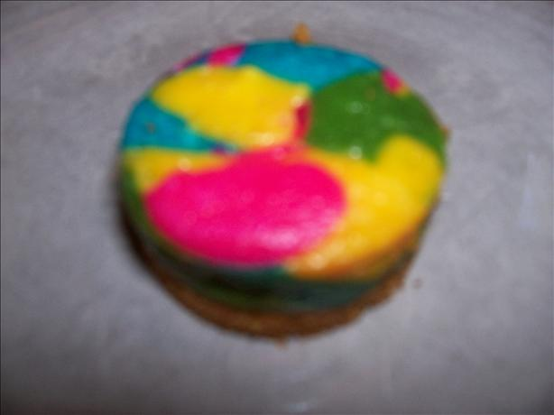 Individual Rainbow Cheesecakes